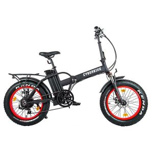 Велогибрид Cyberbike Fat 500W Black-Red