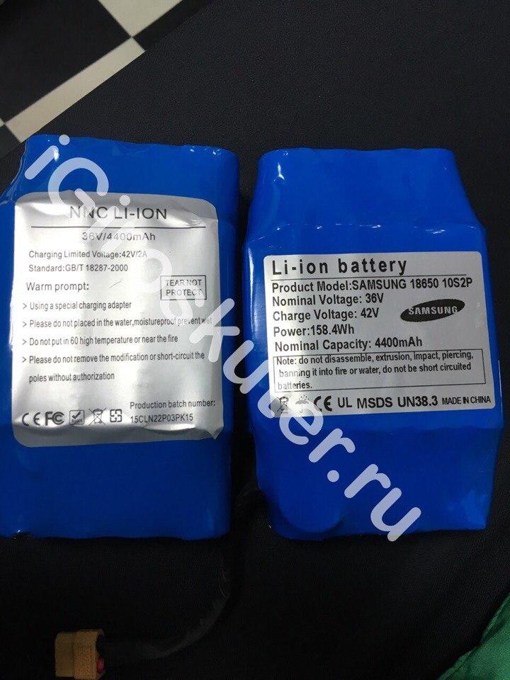 копия и оригинал батарея самсунг для гироскутера